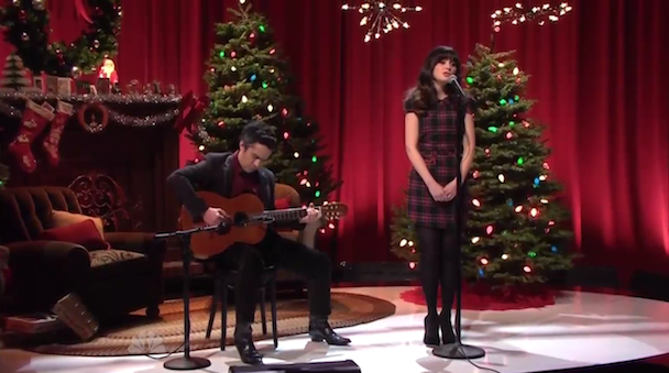 She & Him perform on Jay Leno